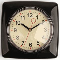 Love this retro wall clock by Kikkerland!