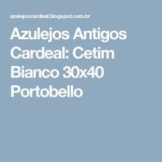 Azulejos Antigos Cardeal: Cetim Bianco 30x40 Portobello
