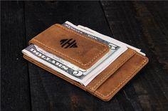 Minimalist Wallet Men personalized money clip wallet by EdenWars