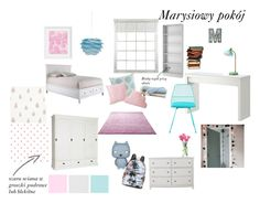 Marysiowy pokój by nataliawisniewska on Polyvore featuring interior, interiors, interior design, dom, home decor, interior decorating, Edgewood, Bend Seating, Tvilum and PBteen