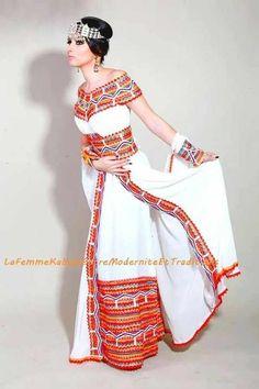 Algerian Kabyle Bridal Dress - Modern Take on Traditional Kabyle Dress - Algerian Bride - Algerian Weddings African Print Fashion, African Women, Traditional Dresses, Modern Traditional, Mode Inspiration, African Dress, All About Fashion, Hijab Fashion, Modest Fashion