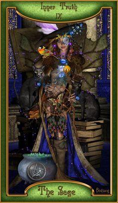 The Hermit Tarot, The Magician Tarot, Le Tarot, Online Tarot, Major Arcana, Tarot Decks, Cool Cards, Tarot Cards, The Magicians