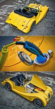 New Trucks – Auto Wizard Morgan Motors, Best Electric Car, Electric Cars, Electric Car Conversion, Morgan Cars, Roadster, Yellow Car, New Trucks, Sport Cars