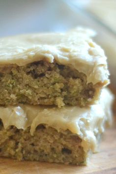 Decadent and luscious zucchini cake topped with caramel frosting that's even richer than Paula Deen's!