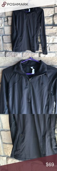 Lululemon Black Jacket⚽️ Lululemon Black Jacket⚽️. Excellent preowned condition. Thumb holes, finger covers, zippered front pockets. lululemon athletica Jackets & Coats