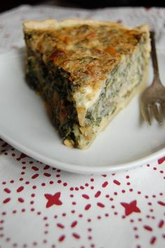 Nettle-Mushroom Pie with Pine Nuts