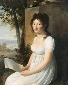 Louis-André-Gabriel Bouchet (attributed to), Portrait of a young lady, c.1800-1805