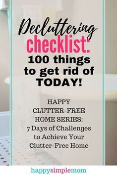 Organization Ideas clutter Start getting rid of clutter today with this decluttering checklist and guide. Start getting rid of clutter today with this decluttering checklist and guide. Getting Rid Of Clutter, Getting Organized, Cleaning Checklist, Cleaning Hacks, Clutter Control, Clutter Free Home, Declutter Your Life, Feeling Overwhelmed, Spring Cleaning