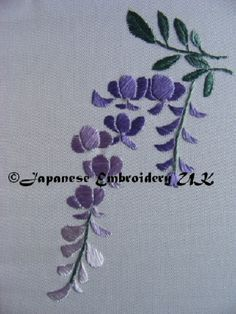 Japanese Embroidery Flowers This piece is designed and stitched by me Denise Foster. It is one of the designs available from the Japanese Embroidery UK Academy - Chinese Embroidery, Embroidery Flowers Pattern, Silk Ribbon Embroidery, Crewel Embroidery, Hand Embroidery Designs, Embroidery Kits, Machine Embroidery, Embroidery Supplies, Embroidered Flowers