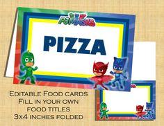 PJ Masks Food Label Cards - Printable DIY Digital File