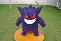 gengar crochet my favorite pokemon ever he's so cute and frightening at the same time