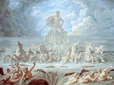 * Johfra Bosschart - - - Fonteinenserie - Fountains of Rome -Trevi-fontein Dutch Artists, Famous Artists, Rotterdam, Le Zodiac, Greek Symbol, Max Ernst, Surrealism Painting, Art For Art Sake, Modern Artists