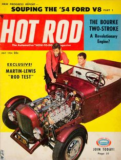 1954 Cover Hot Rod Dean Martin Jerry Lewis Jerry Geshenberg Bourke Actor YHR1