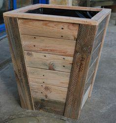 Jardinière en bois de palette recyclée - Au bout du bois