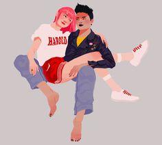 Yukio and Negasonic Teenage Warhead ❤ Marvel Art, Marvel Movies, Marvel Avengers, Stucky, Teenage Warhead, Marvel Tumblr, Lgbt, Queer Art, Pretty Anime Girl