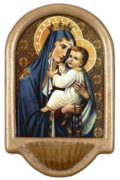 Our Lady of Mt. Carmel Holy Water Font Click picture to see on #catholictothemax