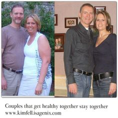 I love to see couples get results together. - Click on image to visit Facebook page for your ticket to physical and financial freedom.  #ourhealthtowealth