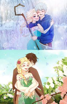 Jelsa în primăvara vs jelsa în iarna