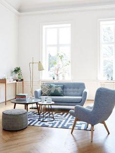Sofá estilo nórdico y vintage