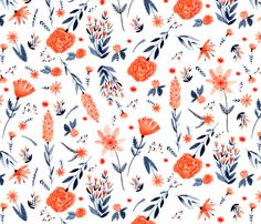 Irene's Garden fabric by heyabigail on Spoonflower - custom fabric