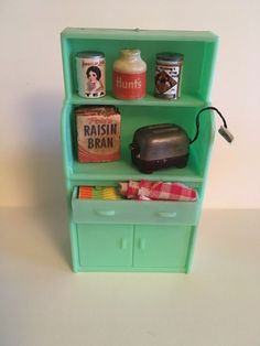 Furniture Buy Now Pay Later Info: 5235456571 Miniature Dollhouse Furniture, Vintage Dollhouse, Dollhouse Miniatures, Green Kitchen Cabinets, Toy Kitchen, How To Clean Furniture, Classic Furniture, Furniture Cleaning, Retro Toys