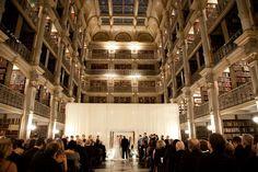 Amy + Josh Peabody Library Baltimore Wedding