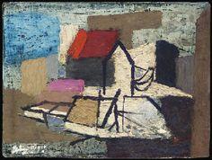 ✽ john piper - 'portland abstraction' - 1951 - oil on linen on board Alfred Wallace, John Piper Artist, My Art Studio, Studio Ideas, Andrew Bird, French Art, Art Techniques, Abstract Landscape, Art Studios