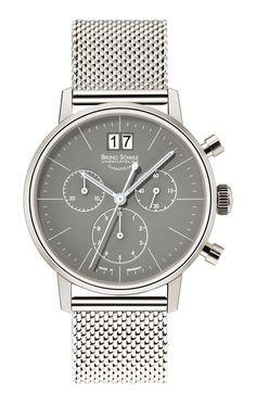 Der Chronograph Stuttgart Chronograph mit grauem Zifferblatt für die Damen von Bruno Söhnle. [3121] #Damen #ladieswatch