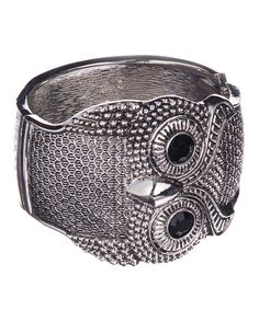 Another great find on #zulily! Silver Whoo-oo Are You Owl Hinge Bracelet by LOLO by New Dimensions #zulilyfinds
