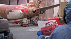 Painting 'The Adventure of Disneyland Resort' - Alaska Airlines 5th Disneyland plane.