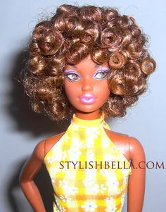 I didnt want to swarm the confessions thread with barbie pics . Natural Hair Art, Natural Hair Journey, Natural Hair Styles, Natural Beauty, African Dolls, African American Dolls, Afro, Beautiful Barbie Dolls, Black Barbie