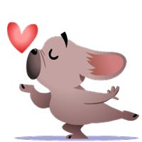 Mugsy In Love Facebook Stickers