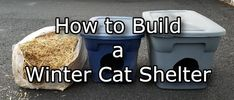 How To Build a Winter Cat Shelter in 5 Easy Steps - Thistle Downs Farm Outside Cat Shelter, Outside Cat House, Feral Cat Shelter, Feral Cat House, Outdoor Cat Shelter, Cat House Diy, Outdoor Cats, Feral Cats, Kitty House