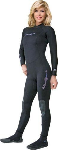 NeoSport Wetsuits Women's Premium 3/2mm Neoprene Full Suit , Black, 10 - Diving…