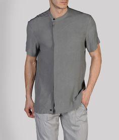 Armani - Crepe, Chinese collar