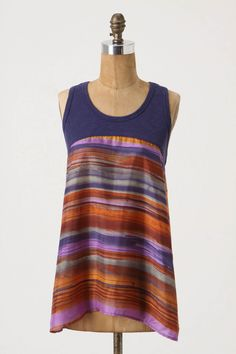 Not handmade, but could be. Originally $88. Cotton tank with silk body.