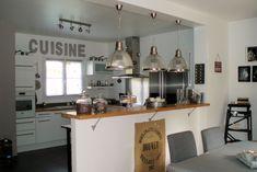 De gros luminaires pour donner du style à sa cuisine !  #luminaires #cuisine #decoration