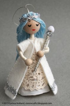 ...and I decree it shall snow!     This Frost Queen ornament was crafted recently just for Juliette. It was nice to sit down for some q...