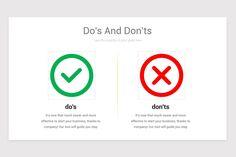 Dos and Don'ts Keynote Presentation Template Keynote, Presentation, Thankful, Templates, Marketing, Stencils, Vorlage, Models