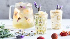 Lychee & Lavender Iced Tea You'll need 10 teaspoons Relax 1 tin lychees, ¾ cup juice reserved Fresh lavender Iced T2 2L Jug-a-lot How to Add tea to the infuser of your 2L Jug-a-lot and ¾ fill with boiling water. Infuse for 10 minutes, then remove infuser and leave to cool for 1 hour. Add lychee juice and stir. Add ice and decorate with lychees and fresh lavender flowers. Makes 2 litres