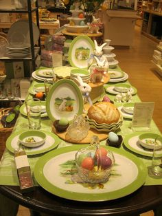 an Easter table setting