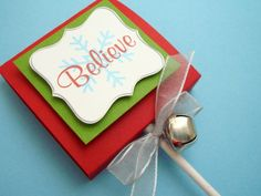 Believe Christmas Lollipop Favors Set of Ten by SimpleTastes