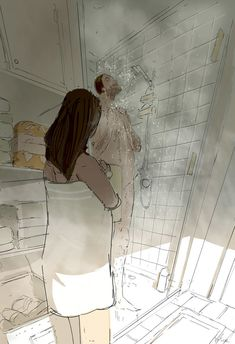Room for me? by PascalCampion on DeviantArt Classic Love Quotes, Body Gestures, Drawings Of Black Girls, Pascal Campion, Beauty First, Anime Love Couple, Beautiful Moments, Photo Illustration, Erotic Art