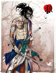 """ A Ronin turned Yakuza""- Okami by ~thedarkestseason on deviantART"