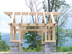 chinese timber frame architecture | Historic Timber Frame Gazebo American Arts and Crafts Architecture