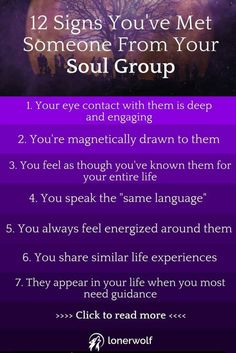 Signs you've met someone from your soul group