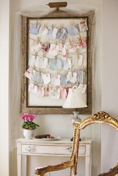 Great way to display fabric samples