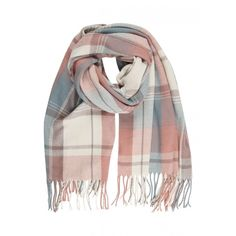 Womens' Pastel Check Scarf ($12) ❤ liked on Polyvore featuring accessories, scarves and pastel scarves
