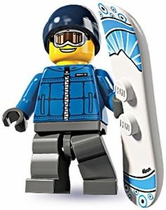 Black Friday 2014 Lego Minifigures Series 5 - Snowboarder Male from LEGO Cyber Monday. Black Friday specials on the season most-wanted Christmas gifts. Lego Minifigs, Lego Ninjago, Legos, Snowboard Wedding, Lego Winter, Winter Games, Lego People, Black Friday Specials, Guy