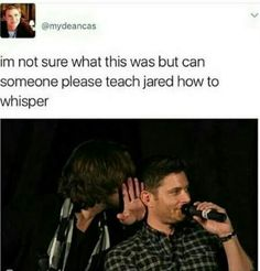 Maybe he's talking behind Jensen's back.
